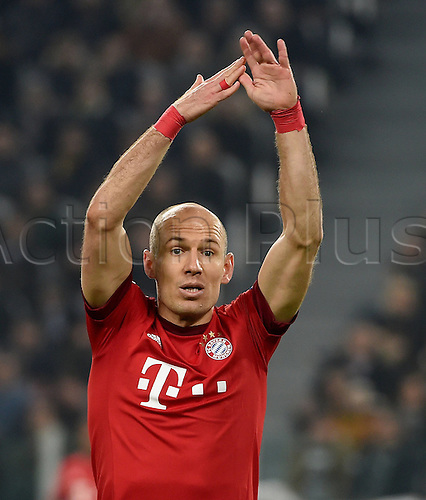 23.02.2016. Turin, Italy. UEFA Champions League football. Juventus versus Bayern Munich.  Arjen Robben (FC Bayern Mun)