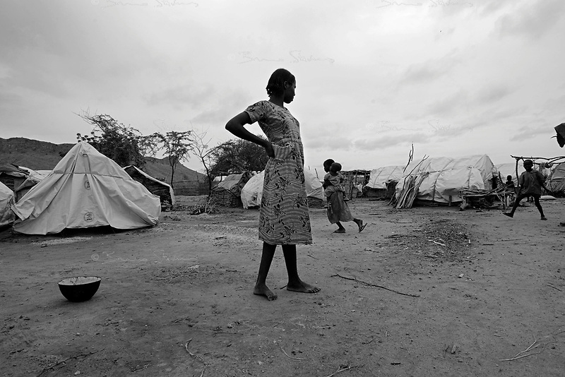 Mornei IDP camp, West Darfur, August 8, 2004.This huge camp shelters more than 75 000 IDP's.