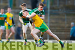 Matthew Flaherty Kerry in action against Ciaran Thompson Donegal in the Allianz Football League Division 1 Round 1 match between Kerry and Donegal at Fitzgerald Stadium in Killarney, Co. Kerry.