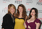 HOLLYWOOD, CA - NOVEMBER 08: Kate Capshaw , Destry Allyn Spielberg and Sasha Spielberg  arrive at the 'Lincoln' premiere during the 2012 AFI FEST at Grauman's Chinese Theatre on November 8, 2012 in Hollywood, California.