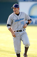 August 13, 2009:  Third Baseman Justin Bloxom of the Vermont Lake Monsters during a game at Dwyer Stadium in Batavia, NY.  The Lake Monsters are the Short-Season Class-A affiliate of the Washington Nationals.  Photo By Mike Janes/Four Seam Images