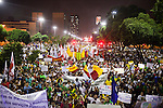 About 300,000 Cariocas (residents of Rio de Janeiro) protest downtown against the government, which began with a 20-cent hike in public transport fares, and moved to widespread frustration about a heavy tax burden, corrupt politicians and weak public education, health and transport systems, as the nation hosts the Confederations Cup soccer tournament and prepares for next month's papal visit, in Rio de Janeiro, Brazil, on Thursday, June 20, 2013. <br /> <br /> The demonstrations came despite the government's U-turn over public transport fare hikes which sparked the protests over a week ago.