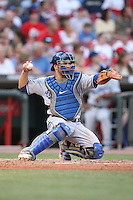 June 18, 2008:  Los Angeles Dodgers catcher Russell Martin (55) at The Great American Ballpark in Cincinnati, OH.  Photo by:  Chris Proctor/Four Seam Images