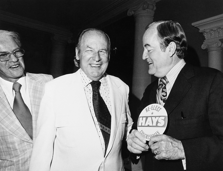 Rep. Wayne Hays, D-Ohio, with Sen. Hubert Humphrey, D-Minn., in 1975. (Photo by Dev O'Neill/CQ Roll Call)