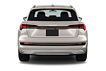 Straight rear view of a 2019 Audi e-tron Prestige 5 Door SUV stock images