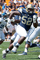 Pitt defensive lineman Shakir Soto. The Pitt Panthers defeated the Villanova Wildcats 28-7 at Heinz Field, Pittsburgh, Pennsylvania on September 3, 2016.