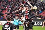 08.11.2018, BayArena, Leverkusen, GER, Europa League, Bayer 04 Leverkusen vs FC Z&uuml;rich, DFL regulations prohibit any use of photographs as image sequences and/or quasi-video <br /> <br /> im Bild Strafraumszene . Torchance von Andreas Maxso (#3, FC Z&uuml;rich / Zuerich)  li. #Lucas Alario (#13, Bayer 04 Leverkusen) re.<br /> <br /> Foto &copy; nordphoto/Mauelshagen
