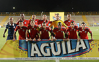 BOGOTÁ -COLOMBIA-29-01-2016. Jugadores de Fortaleza posan para una foto previo al partido entre Fortaleza FC y Jaguares FC FC por la fecha 1 de Liga Águila I 2016 jugado en el estadio Metropolitano de Techo en Bogotá./ Players of Fortaleza pose toa photo prior the match between Fortaleza FC and Jaguares FC for the date 1 of the Aguila League I 2016 played at Metropolitano de Techo stadium in Bogota. Photo: VizzorImage / Gabriel Aponte / Staff