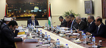 Palestinian Prime Minister Rami hamdallah chairs the Palestinian council meeting in the West Bank city of Ramallah on May 23, 2017. Photo by Prime Minister Office