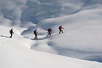 Skitouring on Pizzo Cristallina, Val Bedretto, Lugano, Ticino, Switzerland, February 2013.