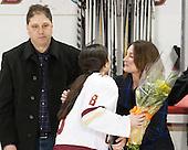 Bob Trivigno, Dana Trivigno (BC - 8), Nancy Trivigno - The Boston College Eagles defeated the visiting Providence College Friars 7-1 on Friday, February 19, 2016, at Kelley Rink in Conte Forum in Boston, Massachusetts.