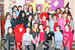 Dressing up: The pupils of 6th class at the Listowel Convent Primary School who dressed for the Halloween occasion last Friday.   Copyright Kerry's Eye 2008