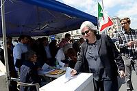 Roma, 30 Aprile 2017<br /> Rosy Bindi vota per le primarie<br /> Voto Primarie Partito Democratico