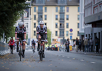 Team Sunweb just realised the fastest time and Tom Dumoulin (NED/Sunweb) rides back to the teambus<br /> <br /> Men's Team Time Trial<br /> <br /> UCI 2017 Road World Championships - Bergen/Norway