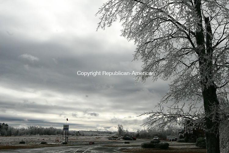 WINSTED, CT - 12 December, 2008 - 121208MO06 - Ice clung to trees at higher elevations in northern Litchfield County Friday, including the former Johnnycake Mountain Meadows airport on the Harwinton-Burlington town line. Jim Moore Republican-American.
