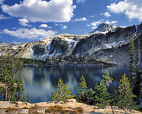 Eagle Cap Peak above Mirror Lake in Eagle Cap Wilderness in Wallowa County, Oregon