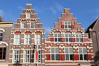 Nederland Leiden 2015 10 03 . Trapgevels in de binnenstad van Leiden. Foto Berlinda van Dam / Hollandse Hoogte
