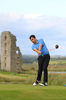 Stephen Moloney (Castletroy) on the 13th tee during Round 2 of The South of Ireland in Lahinch Golf Club on Sunday 27th July 2014.<br /> Picture:  Thos Caffrey / www.golffile.ie