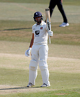 Jack Leaning celebrates his fifty for Kent during Kent CCC vs Sussex CCC, Bob Willis Trophy Cricket at The Spitfire Ground on 9th August 2020