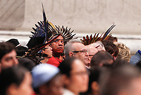 Amazon indigenous attend a Mass celebrated by the Pope for the World Mission Day in St. Peter's Basilica at the Vatican, October 20, 2019.<br /> UPDATE IMAGES PRESS/Riccardo De Luca<br /> <br /> STRICTLY ONLY FOR EDITORIAL USE