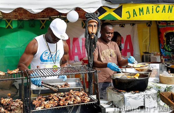 Amsterdam Westerpark. Foodfestival De Rollende keukens. Jamaican Food
