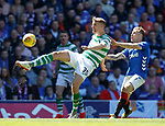12.05.2019 Rangers v Celtic: Kristoffer Ajer and Scott Arfield