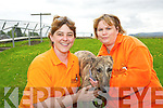 Sarah Hensman and Clare Pilkington, H.U.G, pictured as they announced details of their jamboree celebrating th 10th anniversary of their greyhound rehoming service.................