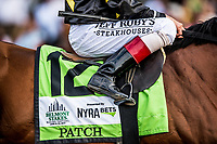 ELMONT, NY - JUNE 10: Patch with John Velazquez finish 3rd in the Belmont Stakes at Belmont Park on June 10, 2017 in Elmont, New York. (Photo by Alex Evers/Eclipse Sportswire/Getty Images)