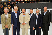 LONDON, ENGLAND - SEPTEMBER 12: Michael Gambon, Michael Caine, Ray Winstone, Paul Whitehouse, Tom Courtenay and Jim Broadbent attending the World Premiere of 'King Of Thieves' at Vue West End, Leicester Square on September 12, 2018 in London, England.<br /> CAP/MAR<br /> &copy;MAR/Capital Pictures