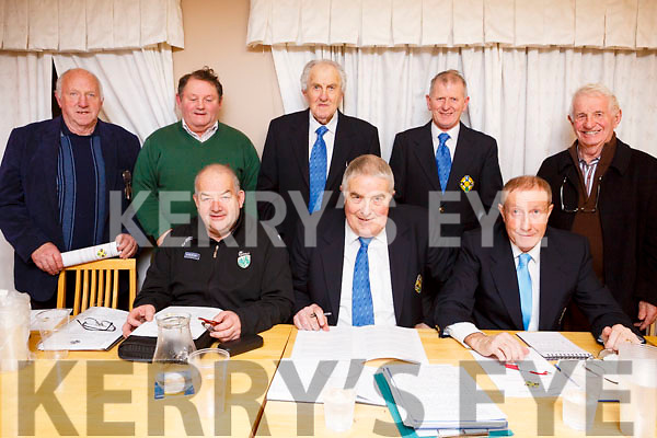 The members of the North Kerry Hurling Board at their AGM in Lixnaw on Thursday night last.  Seated  l to r, Diarmuid O'Se (Vice Chair Kerry County Committee), Joe Walsh (Sec NKHB) and Pat Dineen (Chairman NKHB). Standing l to r, Mike Slattery )Ladies Walk), Timmy Weir (Fixtures Sec NKHB), James O'Connor (Tres NKHB), Paudie Dineen (Asst Tres NKHB) and Tom Lawlor (Dvlmt Officer NKHB).