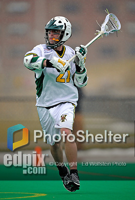 1 April 2008: University of Vermont Catamounts' Andrew Kelleher, a Junior from Delmar, NY, in action against the Fairfield University Stags at Moulton Winder Field, in Burlington, Vermont. The Catamounts rallied to overcome a five goal deficit and defeat the visiting Stags 9-8 notching their third win of the season...Mandatory Photo Credit: Ed Wolfstein Photo