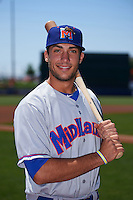 Midland RockHounds outfielder Matt Olson (21) poses for a photo before a game against the Tulsa Drillers on June 3, 2015 at Oneok Field in Tulsa, Oklahoma.  Midland defeated Tulsa 5-3.  (Mike Janes/Four Seam Images)