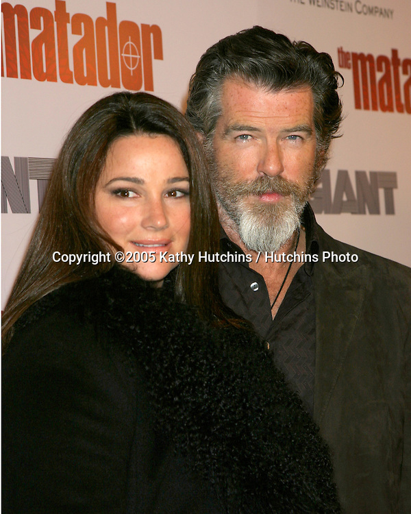 "Keely and Pierce Brosnan.LA Premiere of ""The Matador"".Crest Theater.Westwood, CA  .December 11, 2005.©2005 Kathy Hutchins / Hutchins Photo..."
