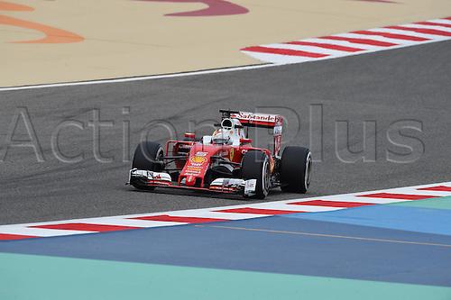 01.04.2016. Bahrain. FIA Formula One World Championship 2016, Grand Prix of Bahrain, Practise day.  Sebastian Vettel, Scuderia Ferrari, formula 1 GP