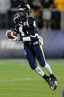22 November 2008:  FIU wide receiver T.Y. Hilton (4) catches a Paul McCall pass in the ULM 31-27 victory over FIU at FIU Stadium in Miami, Florida.