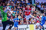 THOR GUNNARSSON, Arnor (#11 Bergischer HC) \BITTER, Johannes (#1 TVB 1898 Stuttgart) \ beim Spiel in der Handball Bundesliga, TVB 1898 Stuttgart - Bergischer HC.<br /> <br /> Foto © PIX-Sportfotos *** Foto ist honorarpflichtig! *** Auf Anfrage in hoeherer Qualitaet/Aufloesung. Belegexemplar erbeten. Veroeffentlichung ausschliesslich fuer journalistisch-publizistische Zwecke. For editorial use only.