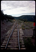 RGS Cima siding west switch at the summit.<br /> RGS  Cima, CO  Taken by Maxwell, John W. - 7/14/1946