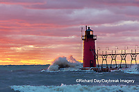 64795-02413 South Haven Lighthouse at sunset South Haven,  MI