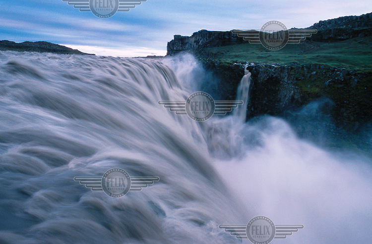 The spectacular Dettifoss waterfall.