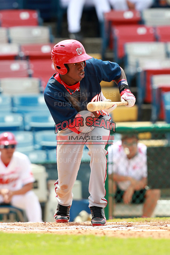 Washington Nationals minor league Eury Perez during a game vs. the Chinese National Team in an Instructional League game at Holman Stadium in Vero Beach, Florida September 30, 2010.   Photo By Mike Janes/Four Seam Images