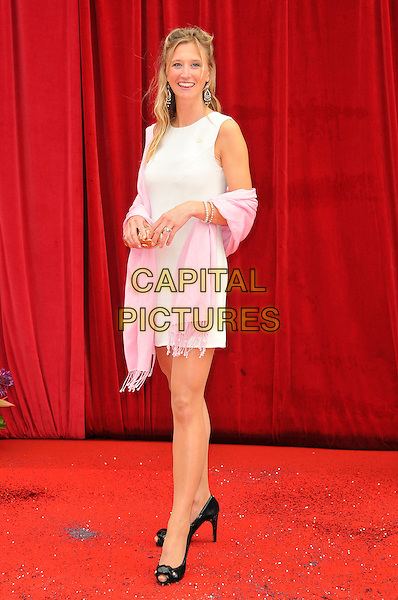 CAROLINE CORRIE .Attending the British Soap Awards 2011, .Granada Television Studios, Quay Street, Manchester, England, UK, .March 14th 2011..arrivals full length pink dress pashmina .CAP/CAS.©Bob Cass/Capital Pictures.