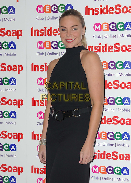 Samantha Womack (nee Janus)<br /> Inside Soap Awards at Ministry Of Sound, London, England.<br /> 21st October 2013<br /> half length belt jumpsuit black sleeveless sam <br /> CAP/DS<br /> &copy;Dudley Smith/Capital Pictures