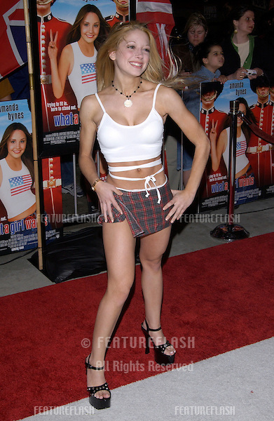 Actress COURTNEY PELDON at the Los Angeles premiere of What A Girl Wants..March 27, 2003