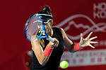 Garbiñe Muguruza of Spain in action during the Prudential Hong Kong Tennis Open 2018 match between Garbiñe Muguruza and Sara Sorribes of Spain at Victoria Park on October 09 2018 in Hong Kong, Hong Kong. Photo by Marcio Rodrigo Machado / Power Sport Images