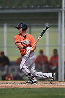 Baltimore Orioles Alex Murphy (65) during a minor league spring training game against the Minnesota Twins on March 28, 2015 at the Buck O'Neil Complex in Sarasota, Florida.  (Mike Janes/Four Seam Images)