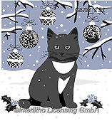 Kate, CHRISTMAS ANIMALS, WEIHNACHTEN TIERE, NAVIDAD ANIMALES, paintings+++++Christmas page 41,GBKM151,#xa# ,cat,cats