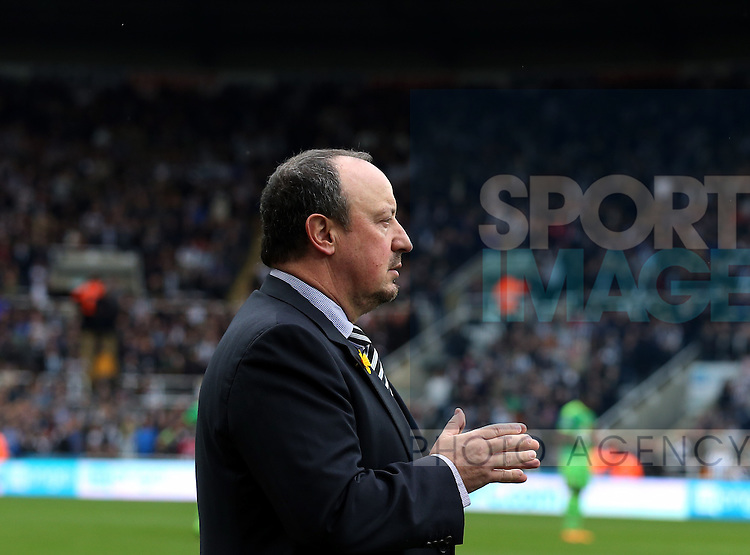 Newcastle United's manager Rafael Benitez ahead of the Barclays Premier League match at St James' Park Stadium. Photo credit should read: Scott Heppell/Sportimage