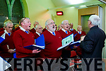 Sylvester O'Shea, John O'Keeffe, Michael F O'Connor and Myle O'Brein performing  at the Carol service in St Michaels church Killorglin on Sunday night