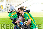 James Godley of Kilmoyley celebrating their win with neighbours, Thomas Bunyan and Mary Bunyan at the Gaelic Grounds, Limerick<br /> <br /> Photo: Oisin McHugh True Media
