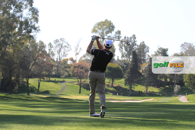 Oliver Wilson (ENG) on the 1st on the Final Day of the 2012 Open de Andalucia Costa del Sol at Aloha Golf Club, Marbella, Spain...(Photo Jenny Matthews/www.golffile.ie)